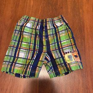 10/30 Disney Pooh bear plaid shorts 18-24 months